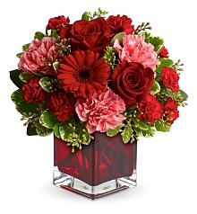 -Geo Low Price: Red Ruby Bouquet