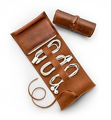 Personalized Keepsake Gifts: Personalized Leather Cord Traveler