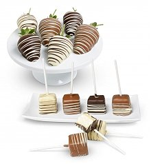 Desserts Confections Gifts: Chocolate Strawberries and Cheesecake Pops