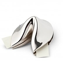 Personalized Keepsake Gifts: Metal Fortune Cookie with Personalized Fortune